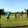 6-4-13<br /> Lessons at Golf Hollow<br /> Todd Smith instucting kids on the driving range.<br /> KT photo | Tim Bath