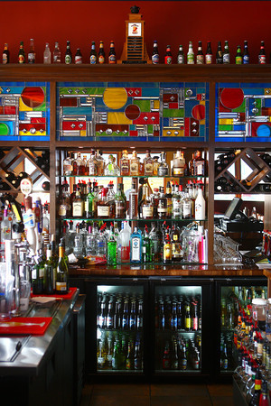 2-6-13<br /> Day and Night Restaurant in Peru<br /> The bar in Day and Night Restaurant<br /> KT photo | Kelly Lafferty