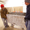 2-5-13     Marble Uniques in Tipton<br /> Justin Coston and Casey LeMay move a finished piece.<br /> KT photo | Tim Bath