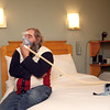 4-3-14<br /> Sleep disorders<br /> John Fivecoate tries on one of the masks available at the St. Joseph Sleep Center to help monitor his breathing while he sleeps. Fivecoate was participating in a sleep study to help fix his sleep apnea.<br /> KT photo | Kelly Lafferty