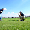 3-18-14   --- Golf Pro Jeff Ousley gives Bob Elkins pointers during a golf lesson at Wildcat Creek Golf Course. -- <br />   Tim Bath | Kokomo Tribune