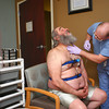 4-3-14<br /> Sleep disorders<br /> Mark Watkins, RPSGT at St. Joseph Sleep Center, puts more than twenty sensors on John Fivecoate to monitor Fivecoate's activity while he undergoes a sleep study to help get more information of his sleep apnea.<br /> KT photo | Kelly Lafferty