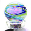 10-10-13  --  Kokomo Opalescent glass  -- Cane Paper Weight $45, LED light $15<br />   KT photo   Tim Bath