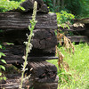 7-23-13<br /> Nickel Plate trail<br /> Old railroad ties were made into fences along the Nickel Plate trail.<br /> KT photo | Kelly Lafferty