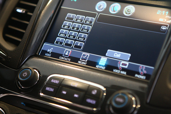 7-19-13<br /> Heartland Magazine Car Technology<br /> The 2014 Chevy Impala's no hands device, called My Link.<br /> KT photo   Kelly Lafferty