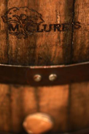 7-26-13<br /> McClure's Orchard<br /> One of the barrels with the McClure's logo.<br /> KT photo | Kelly Lafferty