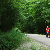 7-23-13<br /> Nickel Plate trail<br /> A kid bikes near the Nickel Plate trail entrance at Lovers Lane in Peru.<br /> KT photo | Kelly Lafferty