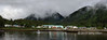 Two photo panorama of the Giga'at village of Hartley Bay, mid-coast British Columbia