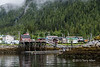 Fuel dock and entrance to the boat harbour, Hartley Bay, mid-coast British Columbia