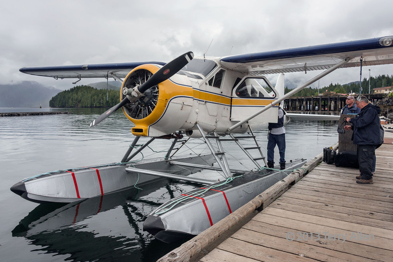 """Sea plane at the dock, Prince Rupert, British Columbia<br /> <br /> This is the sea plane that I took the aerial shots from. It services remote communities like Hartley Bay.  A neat aerial shot of a couple of tugs maneuvering a log boom can be seen here: <a href=""""http://goo.gl/VIfCLz"""">http://goo.gl/VIfCLz</a><br /> <br /> 13/11/13  <a href=""""http://www.allenfotowild.com"""">http://www.allenfotowild.com</a>"""