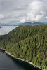 Aerial photo of the Inside Passage near Hartley Bay, mid-coast British Columbia