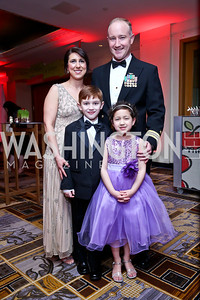 Tracie, Evan, Kelly and Rylie Richards. Photo by Tony Powell. Heroes Curing Childhood Cancer Gala. Four Seasons. February 22, 2014