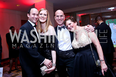 Michael and Sara Davis, Amy Weinberg and Norbert Hornstein. Photo by Tony Powell. Heroes Curing Childhood Cancer Gala. Four Seasons. February 22, 2014