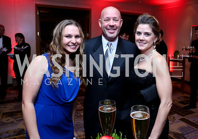 Ambre Rypien, Ron Steele, Cathy McElwee. Photo by Tony Powell. Heroes Curing Childhood Cancer Gala. Four Seasons. February 22, 2014
