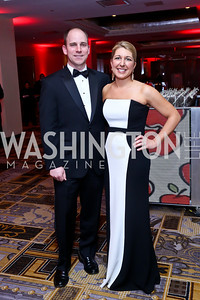 Chris and Caroline King. Photo by Tony Powell. Heroes Curing Childhood Cancer Gala. Four Seasons. February 22, 2014
