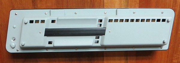 Most of the sound of a melodica typically comes up through the keyboard, and apparent vent holes or slots are mostly cosmetic. But a significant amount of the sound of the Hohner Melodicas in this series comes out of the bottom, in this case through the rectangular holes. The tone can be further altered by blocking (with tape, for example) some of these holes. The sound can be further manipulated by covering and uncovering holes while playing. Blues player Lowboy Bootay is the first melodica player to fully appreciate this feature of this series of Hohner Piano Melodicas (26, 27 and 32) and to develop original techniques to exploit it.