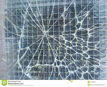 //www.dreamstime.com/stock-images-broken-safety-wire-glass-background-image24188374