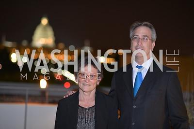 Joan Burton, Roy Gutterman , Hugh M. Hefner Foundation, Annual First Amendment Awards, Newseum Rooftop, Tuesday, May 20th, 2104,