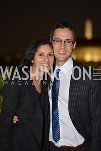 Seetha Ramachandran Justin Herring , Hugh M. Hefner Foundation, Annual First Amendment Awards, Newseum Rooftop, Tuesday, May 20th, 2104,