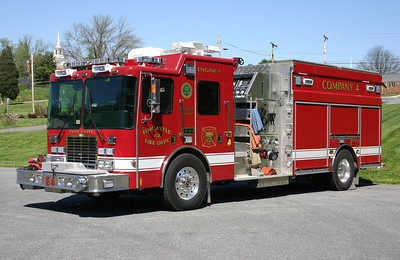 Engine 4 is this 2007 HME 1871/4-Guys, 1250/1500/25.