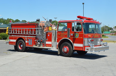 Salem, Virginia Engine 5, a 1986 Duplex/Grumman 1250/600 with Grumman serial number 17417.  It also ran as Salem Engine 1, 3, and 4 during its career.  When photographed in June of 2016, Engine 5 was in storage.