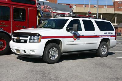 Car 3 is the Salem HAZMAT officer buggy, a 2008 Chevy Suburban.