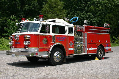Upper Craig Creek Volunteer Fire Department - Craig County Station 50.  Engine 50 is one of two similar used engines at Upper Craig Creek.  E50 is a 1981 ALF Century/1996 Gordons, 1250/750/40, sn- CE-7098.  Primary engine for structure fires.  ex - Weldon, Pennsylvania ex - Weavertown, Pennsylvania Engine 28