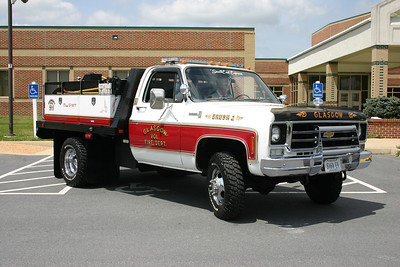 Brush 2 is a 1977 Chevy Scottsdale 30, 95/315 that was rehabbed in 2014 by the FD.