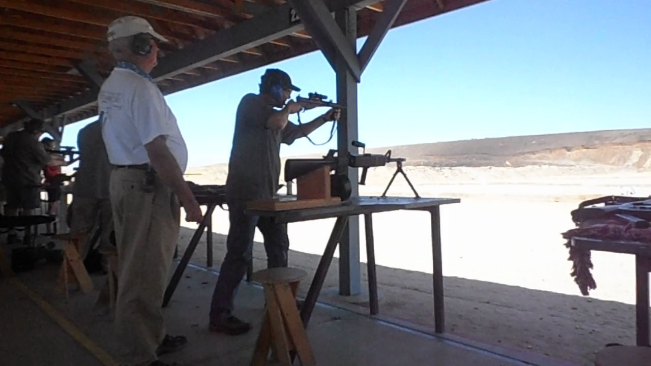 First time shooting an automatic weapon.