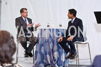 Steve Clemons, Dr. Sanjay Gupta. Photo by Tony Powell. INOVA Summit Luncheon. Salamander Resort. November 8, 2014