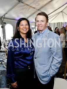 Christina and Dr. Gary Mather. Photo by Tony Powell. INOVA Summit Luncheon. Salamander Resort. November 8, 2014