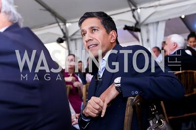 Dr. Sanjay Gupta. Photo by Tony Powell. INOVA Summit Luncheon. Salamander Resort. November 8, 2014