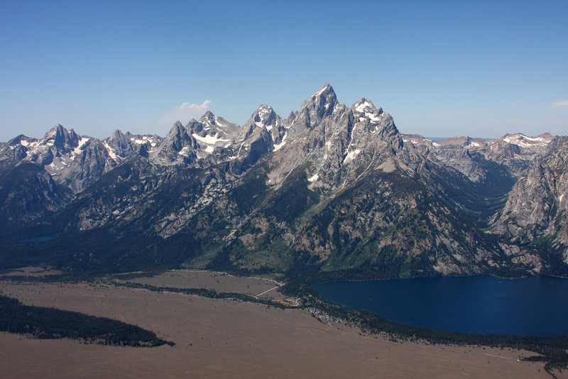 Approaching the Grand Tetons and Jenny Lake