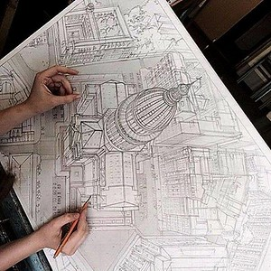 illustrations, renderings doddles,,