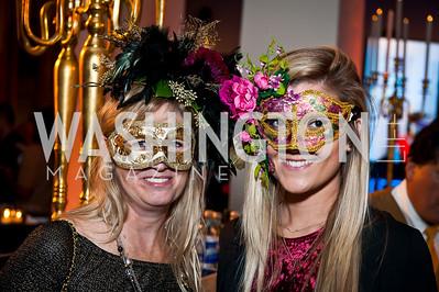 Janet Flowers, Christin Hessler. Photo by Tony Powell. Imagine! Masquearde Ball. Carnegie Library. October 28, 2014