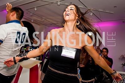 Washington Talent Agency's Nicole Sedaka. Photo by Tony Powell. Imagine! Masquearde Ball. Carnegie Library. October 28, 2014