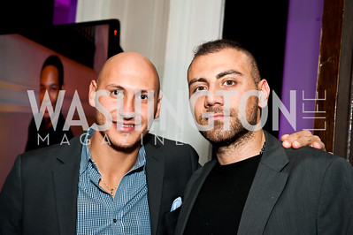 Jad Bouchebel, Roy Abdo. Photo by Tony Powell. Imagine! Masquearde Ball. Carnegie Library. October 28, 2014