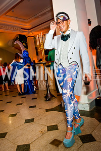 Michael Dumlao. Photo by Tony Powell. Imagine! Masquearde Ball. Carnegie Library. October 28, 2014