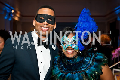 Matthew Boyd, LaShanda Bracey. Photo by Tony Powell. Imagine! Masquearde Ball. Carnegie Library. October 28, 2014