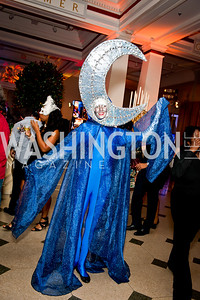 Roving Character from Cast of Thousands. Photo by Tony Powell. Imagine! Masquearde Ball. Carnegie Library. October 28, 2014