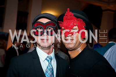 JP Nguyen, William Linaves. Photo by Tony Powell. Imagine! Masquearde Ball. Carnegie Library. October 28, 2014