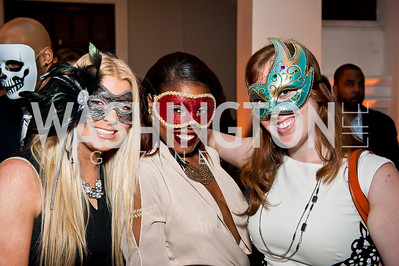 Ashley, Dominic and Tanya. Photo by Tony Powell. Imagine! Masquearde Ball. Carnegie Library. October 28, 2014