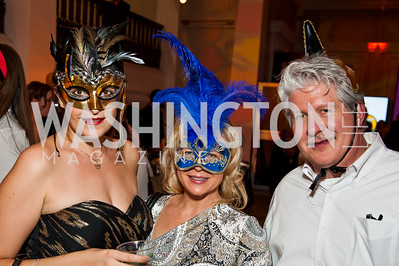 Marjorie Trainor, Robin Gordon, Rick Gordon. Photo by Tony Powell. Imagine! Masquearde Ball. Carnegie Library. October 28, 2014