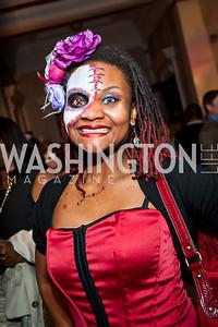 LaShan Perkin. Photo by Tony Powell. Imagine! Masquearde Ball. Carnegie Library. October 28, 2014