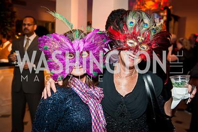 Val Brady, Silvia LaFleur. Photo by Tony Powell. Imagine! Masquearde Ball. Carnegie Library. October 28, 2014