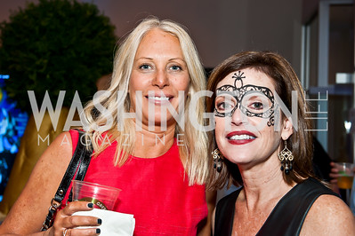 Trish Murphy, Cheryl Mazo. Photo by Tony Powell. Imagine! Masquearde Ball. Carnegie Library. October 28, 2014
