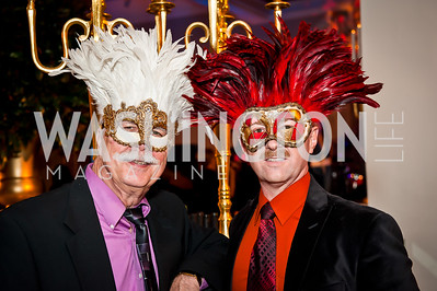 Bill Decuab, Michael Horne. Photo by Tony Powell. Imagine! Masquearde Ball. Carnegie Library. October 28, 2014
