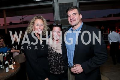 Rachel Hirschberg, Kimball Stroud, David White. Photo by Tony Powell. WL Inaugural Chef's Roast of Nora Pouillon. Union Market. September 22, 2014