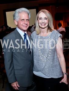 Donald Friedman and Rhona Wolfe Friedman. Photo by Tony Powell. WL Inaugural Chef's Roast of Nora Pouillon. Union Market. September 22, 2014