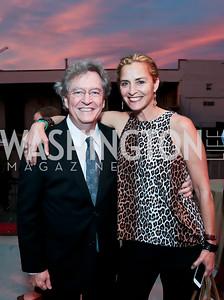 Ken Cook, Ami Aronson. Photo by Tony Powell. WL Inaugural Chef's Roast of Nora Pouillon. Union Market. September 22, 2014